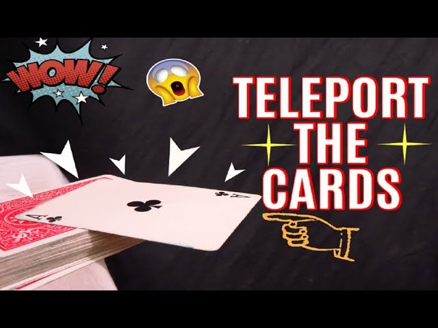 World's Easiest Teleportation Card Magic Trick!! – Tutorial (Switching Cards)