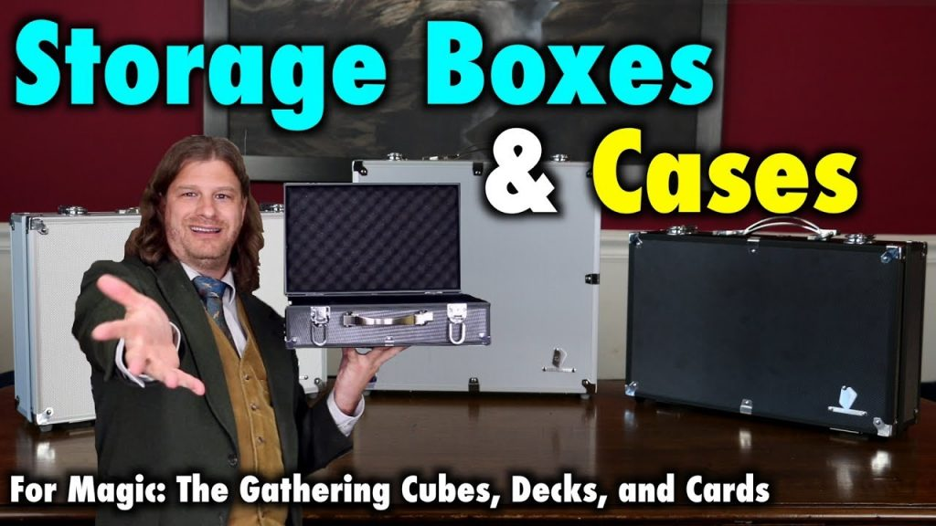 Storage Boxes and Cases for Magic: The Gathering Cubes, Decks, and Card Games by KaKaPoPo