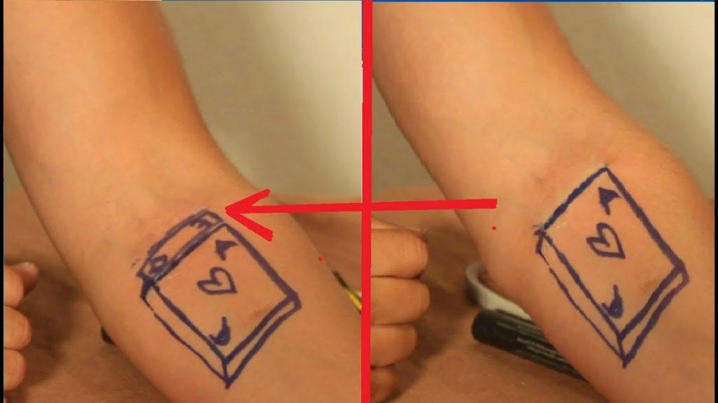 تعلم العاب الخفة # 621 (  اخراج الورقة من الرسم  )  magic trick revealed