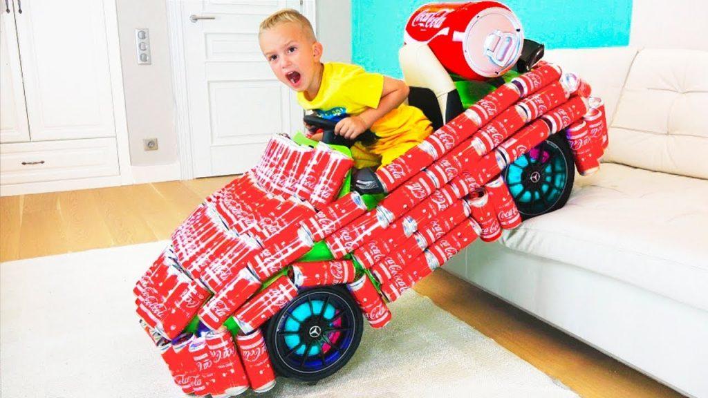 FUNNY KIDS PRANK with COCA COLA! Kids Transform Magic Car, Family Fun Kids toys