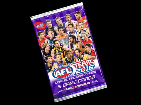 Afl teamcoach footy cards 7 pack bust MAGIC WILDCARD
