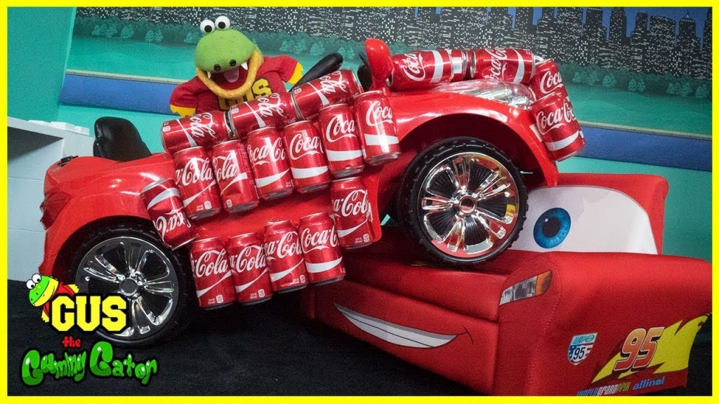 Coca Cola Challenge Coke Car Funny Kids Prank Kids Transform Magic Car with Gus the Gummy Gator