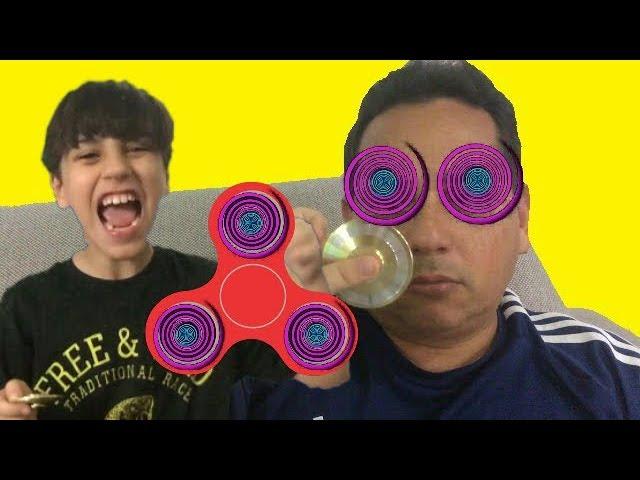 HIPNOTIZEI MEU PAI COM MEU FIDGET SPINNER MÁGICO (Bad Kids Magic Fidget Spinner Hypnotize Dad!)