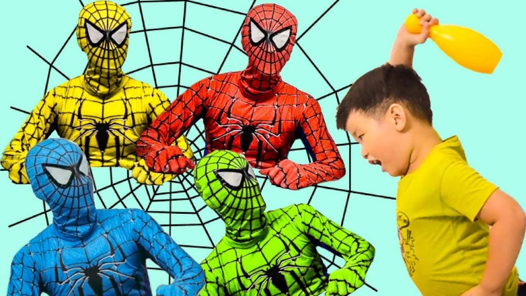 Learn colors with Bad baby & Crying magic Spiderman playing, Learning & Nursery Rhymes for kids