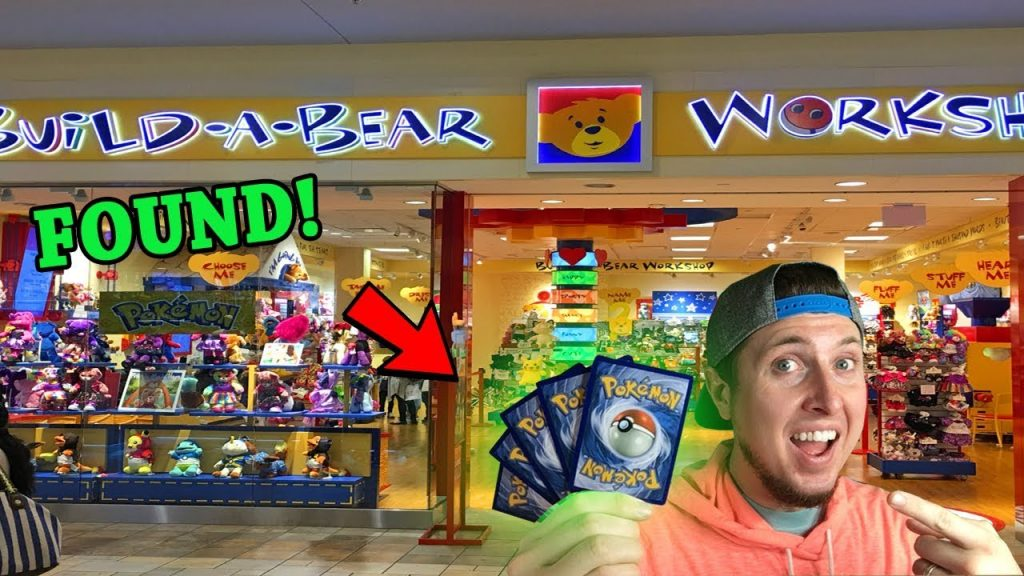 SHOPPING AT BUILD-A-BEAR WORKSHOP FOR POKEMON CARDS + Opening Packs!