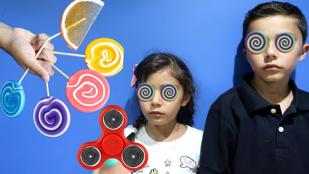 Bad Kids Magic Fidget Spinner Hypnotize Bad Witch! Family fun toys for kids!