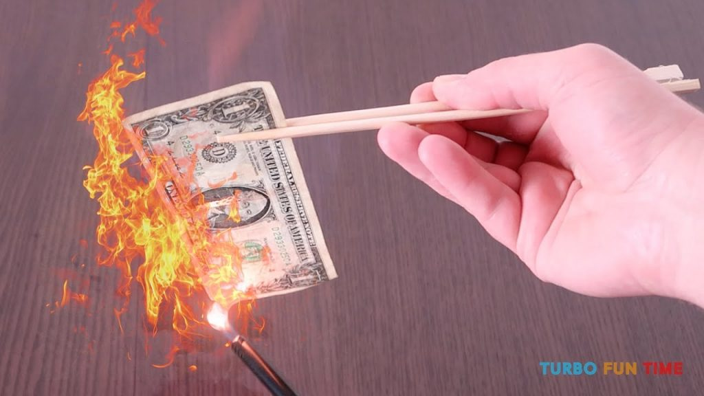 Burning Money Science Magic Trick