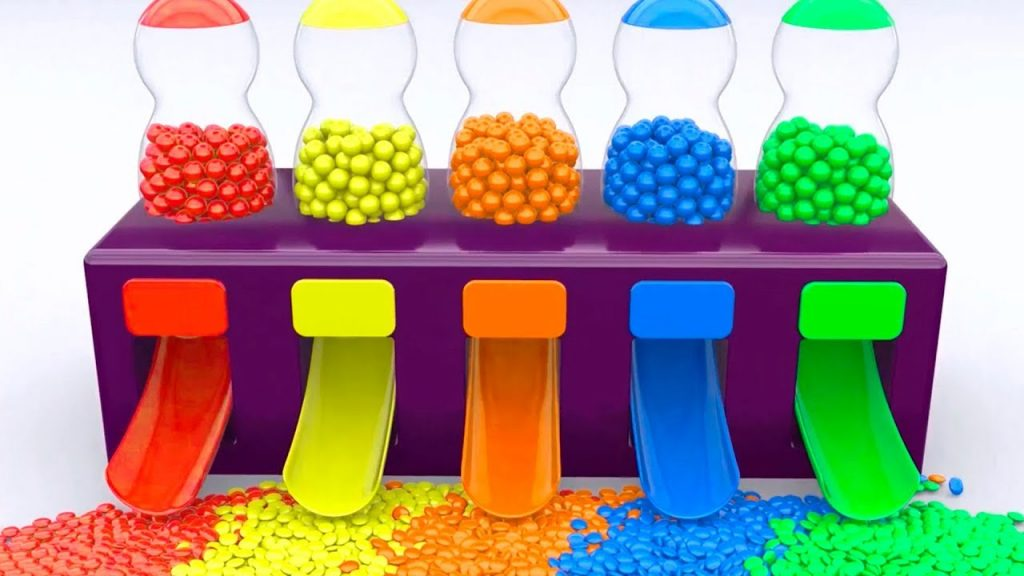 Colors for Kids – Surprise Eggs and Candies Magic Maker – Learn Videos for Children