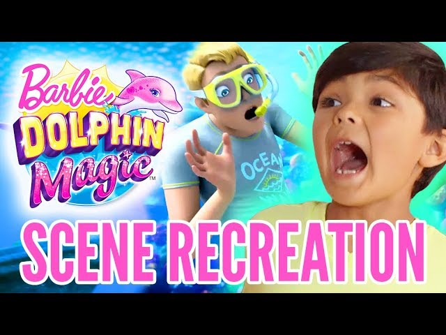 Kids React to Barbie Dolphin Magic™ | Dolphin Magic | Barbie