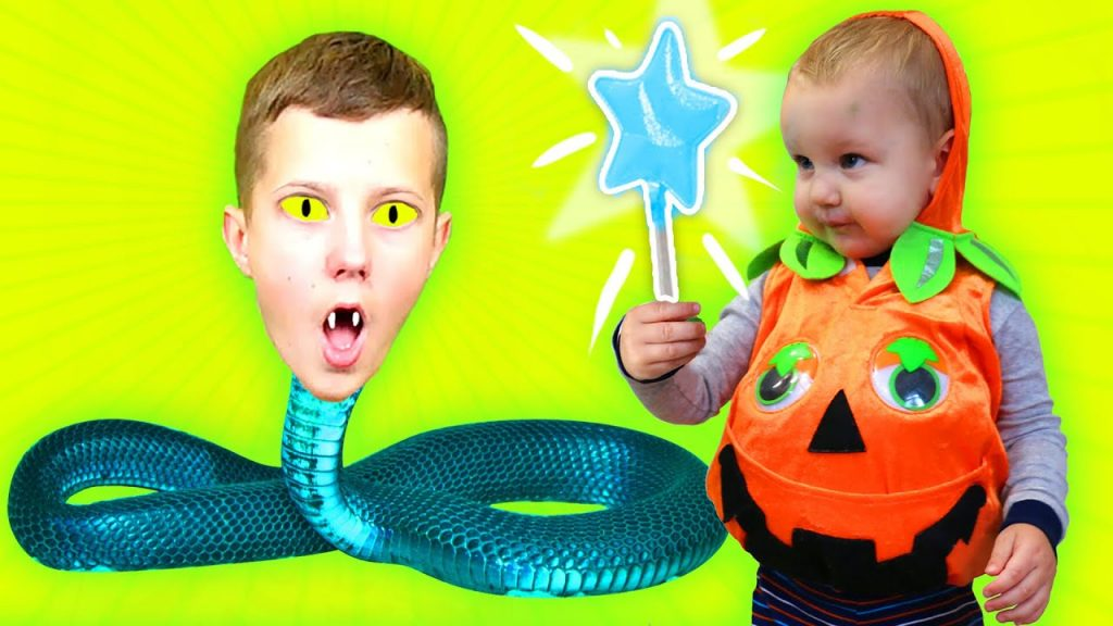 Real Food vs Gummy Food for Bad Baby, Magic Halloween with Johny Johny Yes Papa Nursery Rhymes Song