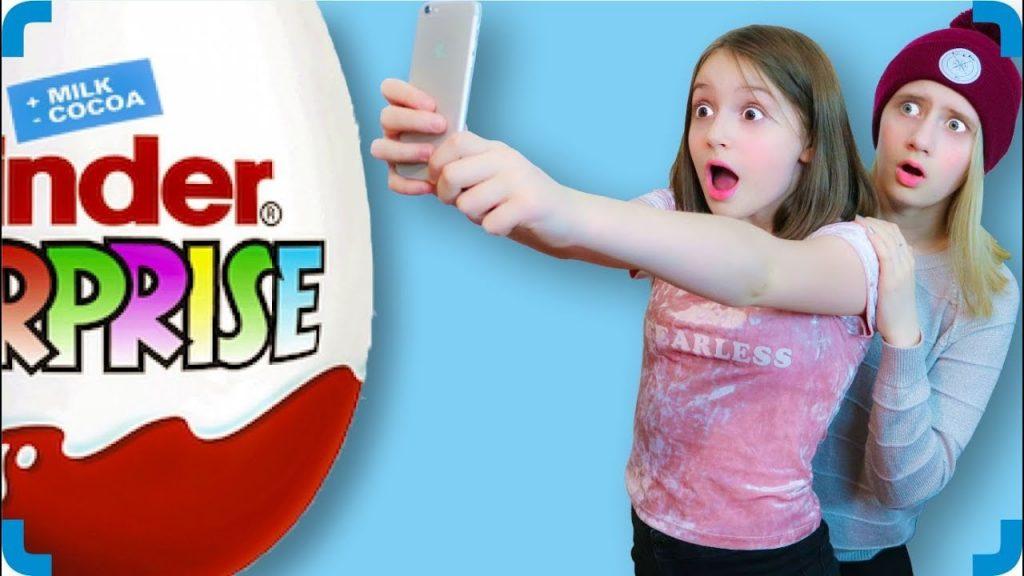 Гигантское Шоколадное Яйцо Bad Kids & Giant Egg Surprise Волшебный Телефон Crazy Family Magic Phone