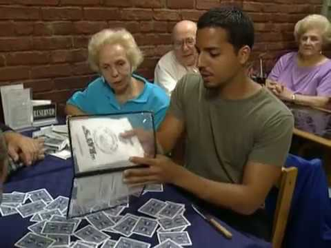 Knife Through Card: Street Magic | David Blaine