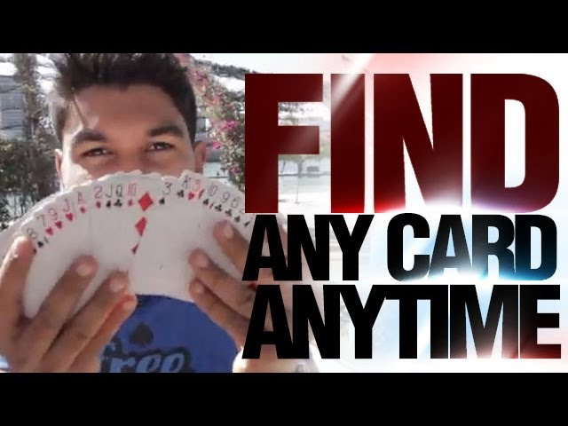Free Magic Tricks : Street Magic Revealed : Find Any Card Anytime
