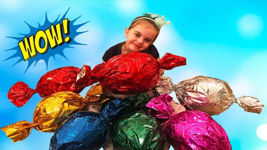 Bad Kids & Chocolate CANDY Learn colors with Funny Magic Giant Candies Nursery Rhymes for Kids