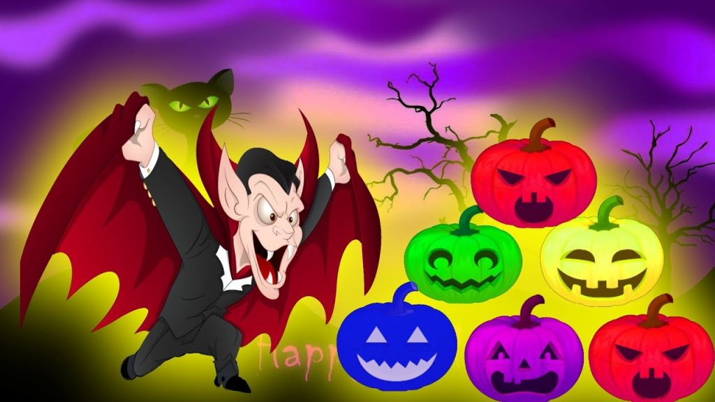 Halloween Pumpkin Wrong Face For Kids – Learning Color WIth Ball Magic Vampire Lord