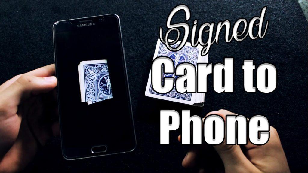 Dynamo Signed Card To Phone REVEALED // No App // Street Magic