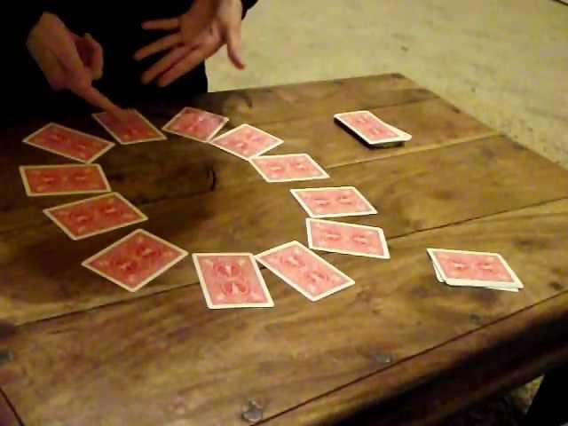 The Magic Clock self-working card trick