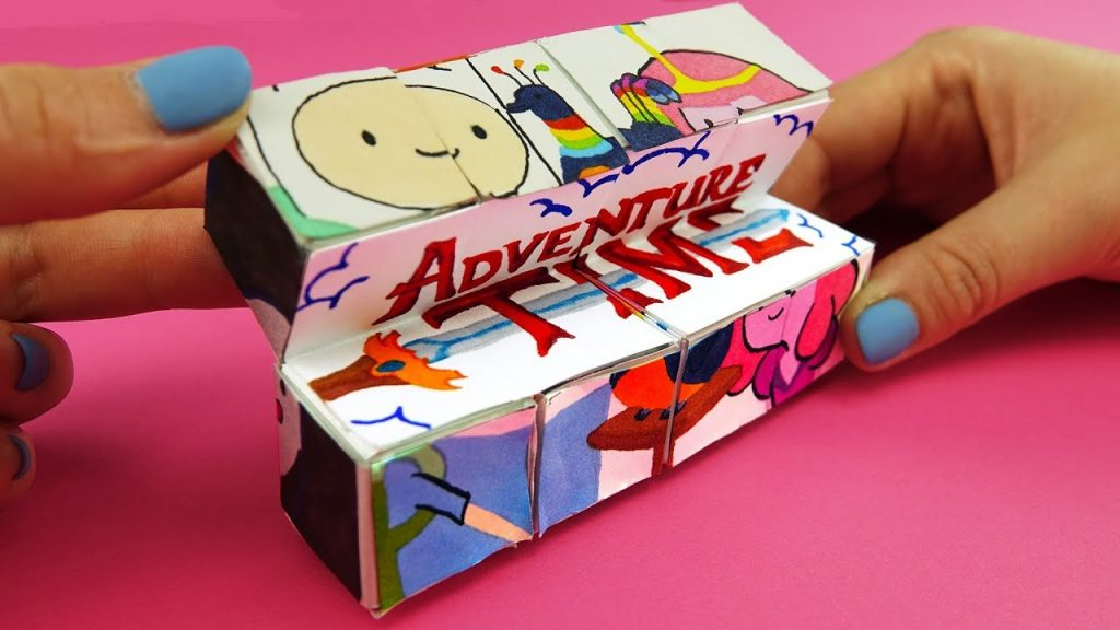 Adventure Time Magic Cube Transformer DIY | Paper Crafts Tutorial For Kids