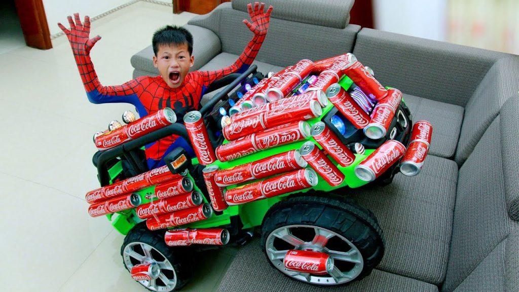 FUNNY KIDS PRANK with COCA COLA! Kids Transform Magic Car  Family Fun Kids toys