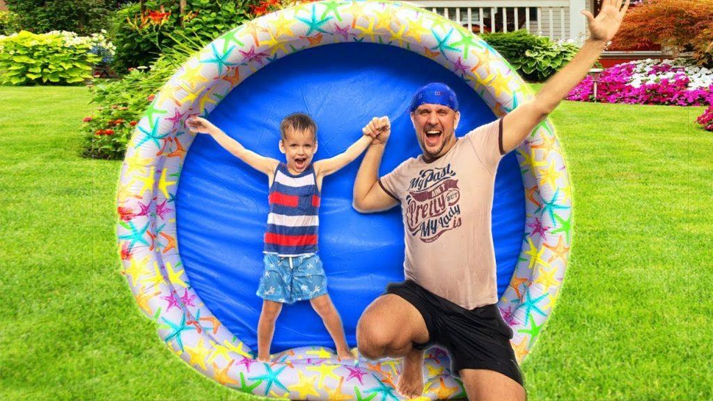 Bad Baby- Магия Бассейне! Giant Magic Pool Wheel! Nursery Rhymes, Songs for babies, children and kid