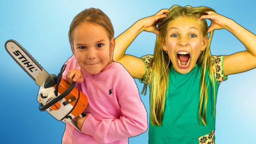 Bad Kids & Giant Candies. Girls find magic portal. Nursery Rhyme Songs