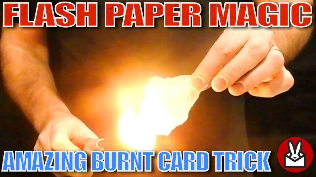 Flash Paper Magic   Amazing Burnt Card Trick