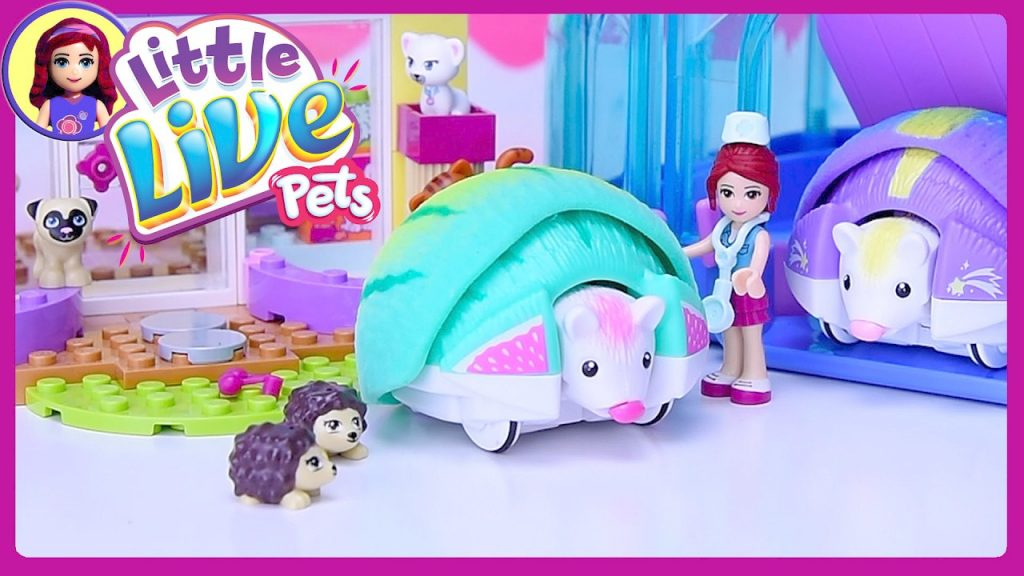 Little Live Pets Lil Hedgehog House at Lego Friends Vet Clinic Unboxing Silly Play – Kids Toys