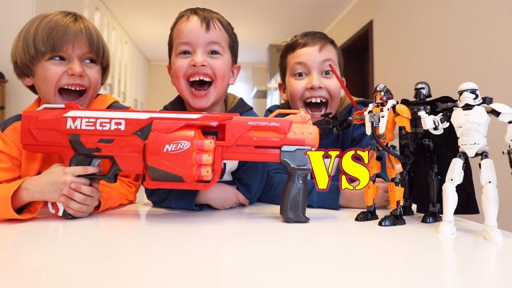Lego Star Wars vs Nerf Gun – Toys Crash Tests Fun