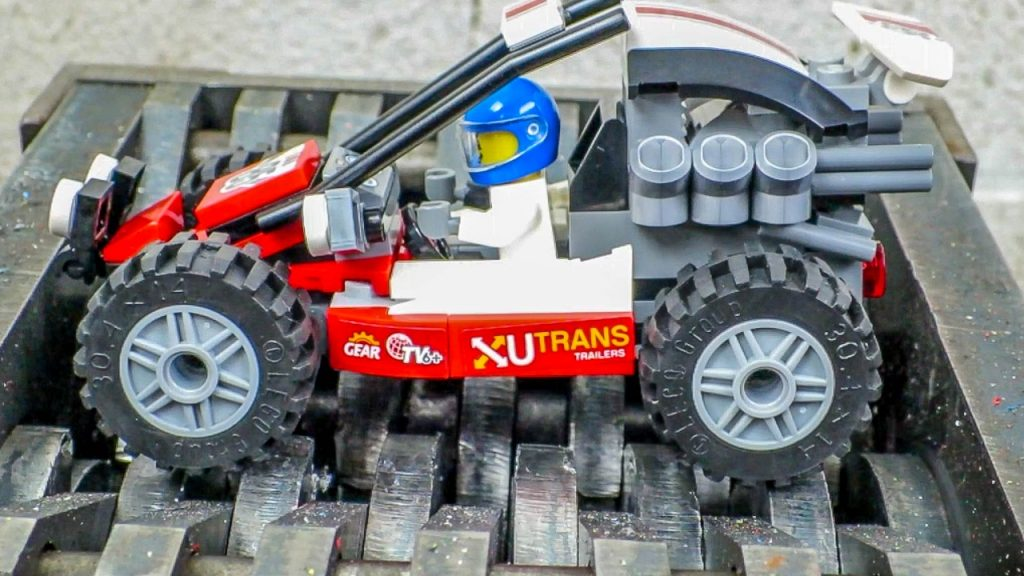 Shredding a Lego Buggy! Building and Destroying a Lego City Buggy