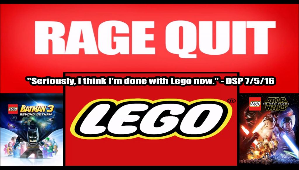 DSP Tries It –  Rage Quitting Lego Star Wars – The Force Awakens