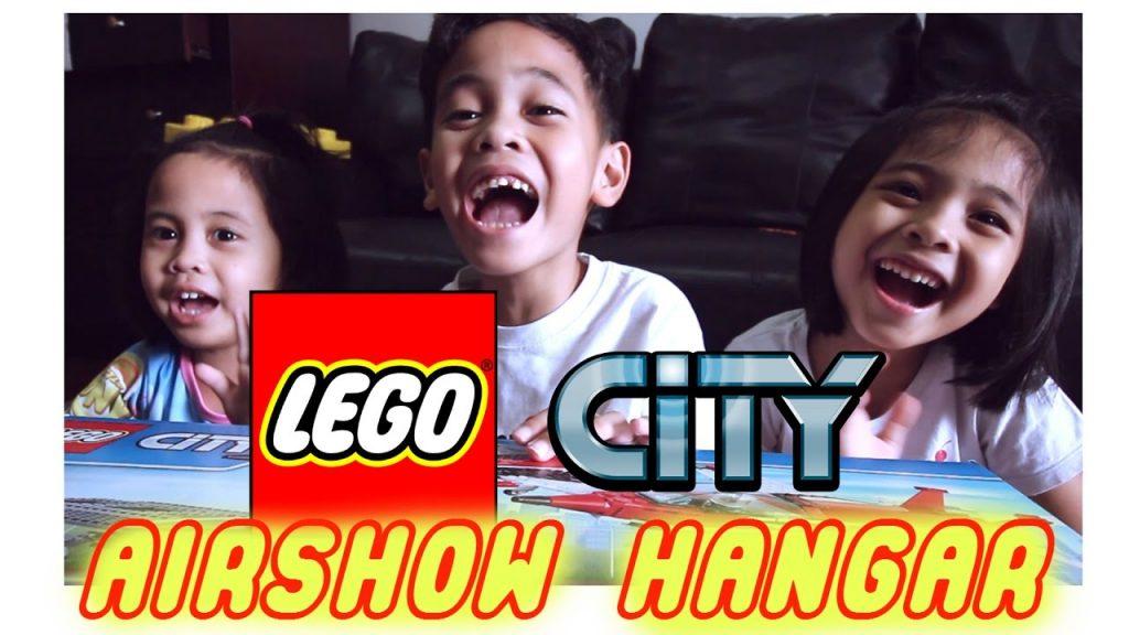 UNBOXING LEGO CITY PESAWAT AIRSHOW HANGAR