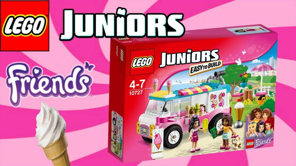 LEGO JUNIORS – LEGO FRIENDS EMMA'S ICE-CREAM TRUCK | Little Kelly & Friends ToysReview for Kids