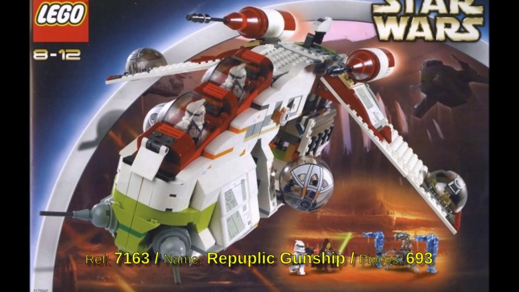 All Lego Star Wars sets from 2002