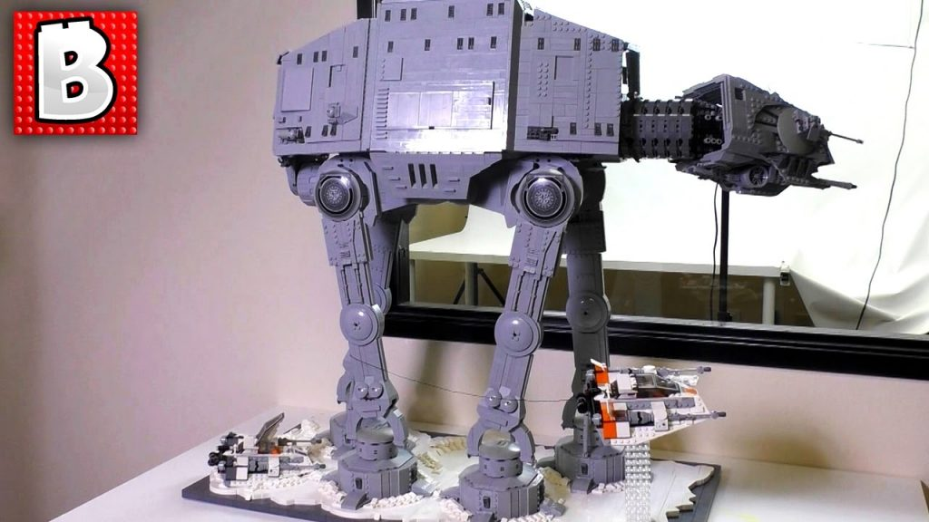 Biggest LEGO Star Wars AT-AT Walker Gets A Custom Hoth Stand!!!   8100+ Parts Total!