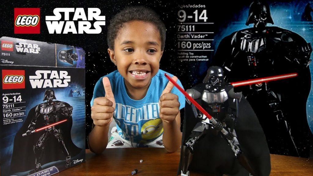 LEGO STAR WARS DARTH VADER SET 75111 BUILD TIME-LASPE  | KidsToyTube