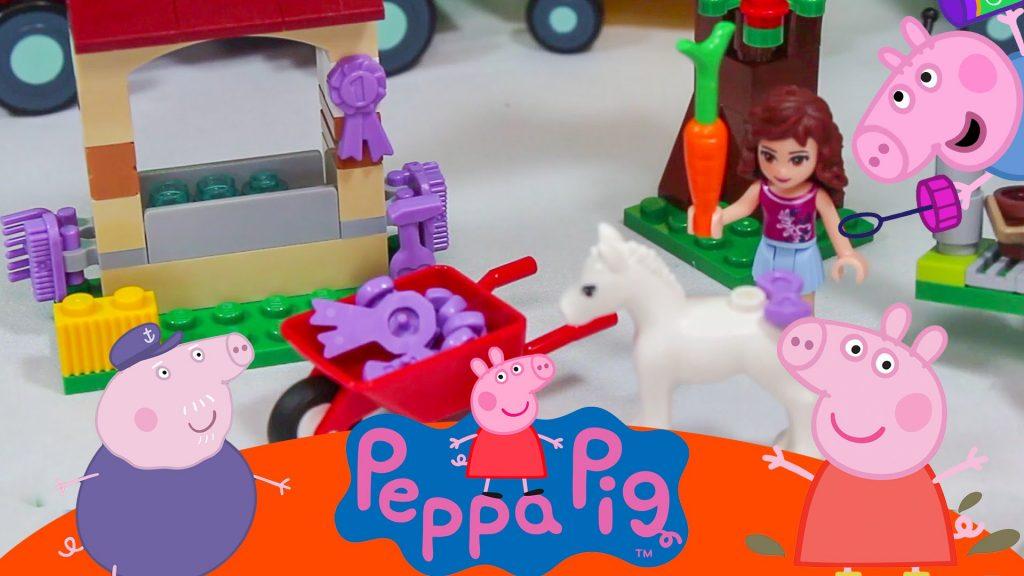 PEPPA PIG GEORGE PIG Lego Friends Trem do Vovo Pig Blocks Olivia Brinquedos  Video