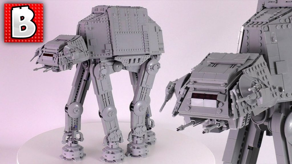 Three Cool Custom LEGO Star Wars AT-ATs!!!   Raskolnikov's Plus-Size AT-AT   Time Lapse Build Review