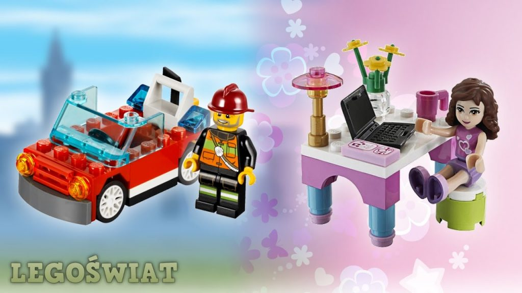 "LEGO Friends: ""Olivia's Desk"" (30102) / LEGO City: ""Fire Car"" (30221)   LegoŚwiat"