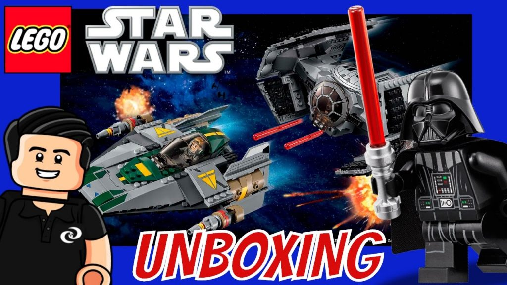 Unboxing LEGO Star Wars Darth Vader TIE Advanced Vs. A Wing Set 75150