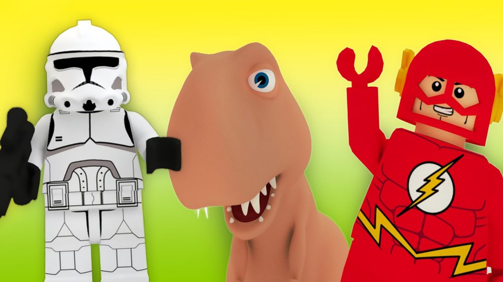 LEGO Star Wars and Flash vs Dinosaur Animation for Kids
