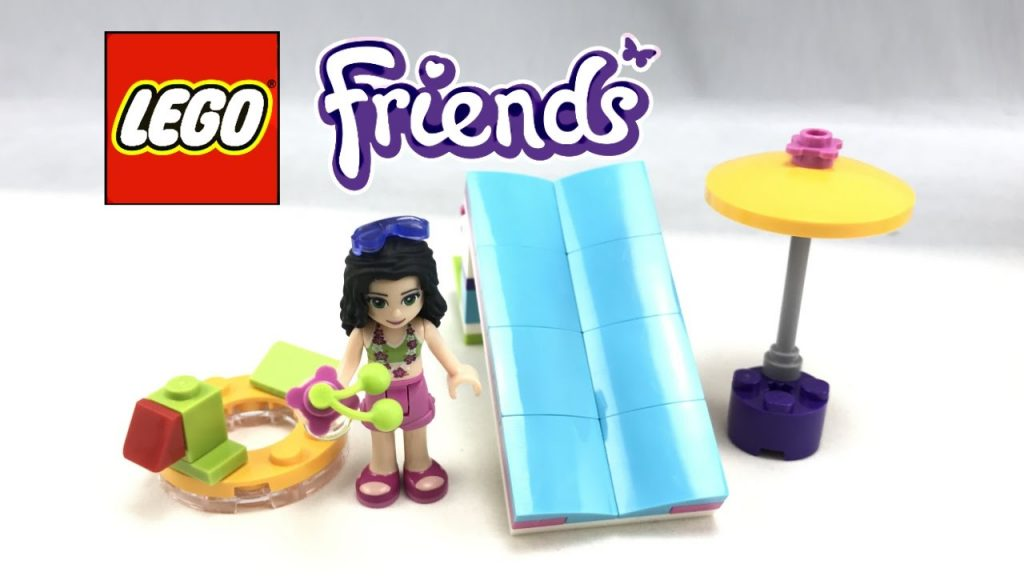 LEGO Friends Pool Foam Slide review! 2017 polybag 30401!