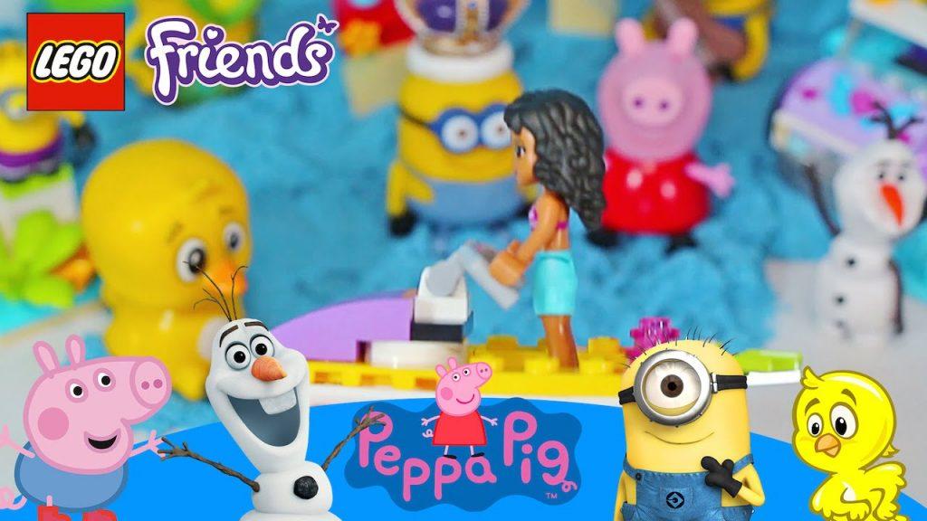 AREIA CINETICA MAGICA PEPPA PIG Pintinho Amarelinho Olaf Lego Friends Jet Ski Praia Blocks Brinquedo