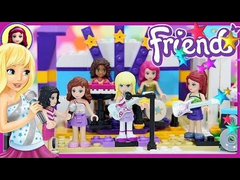 Stephanie's Ballet Rehearsal Stage Lego Friends Build Review Silly Play Kids Toys