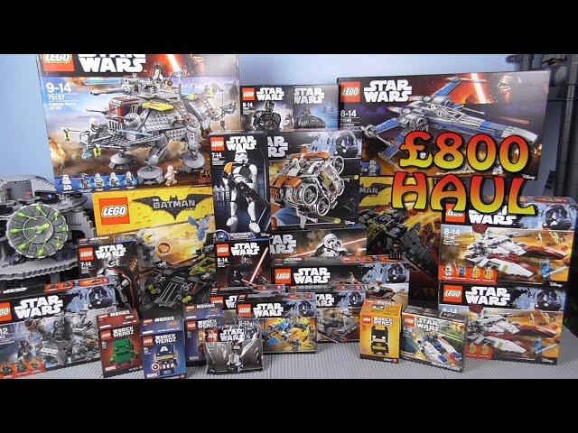 INSANE £800 MEGA LEGO HAUL 3! (+Star Wars & Batman Movie Summer 2017 Sets)