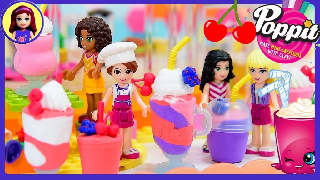 Poppit Smoothies Milkshakes with Lego Friends DIY Clay Craft Kids Toys