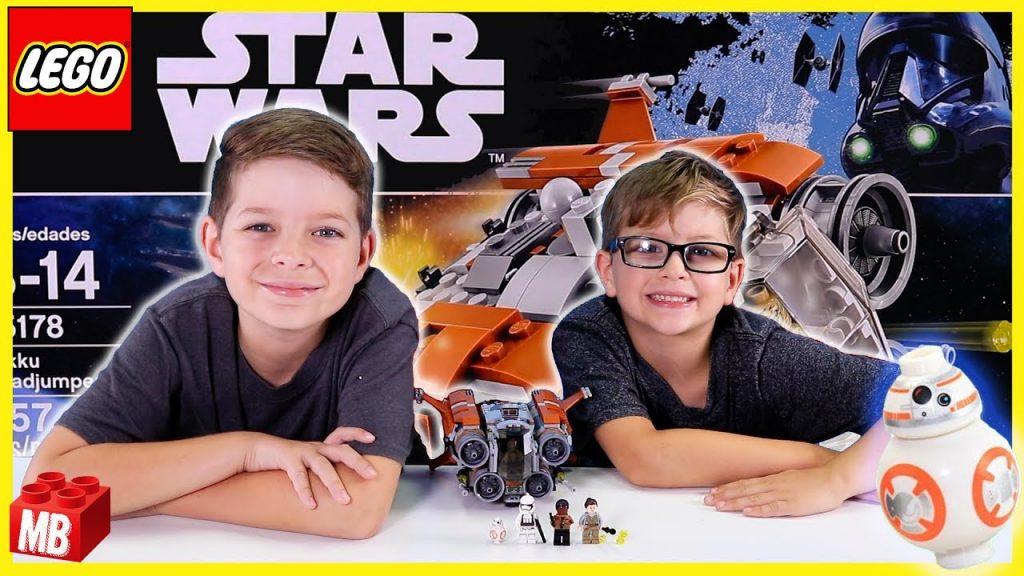 Lego STAR WARS FORCE AWAKENS Jakku Quadjumper Unboxing Build Review PLAY KIDS TOY #75178