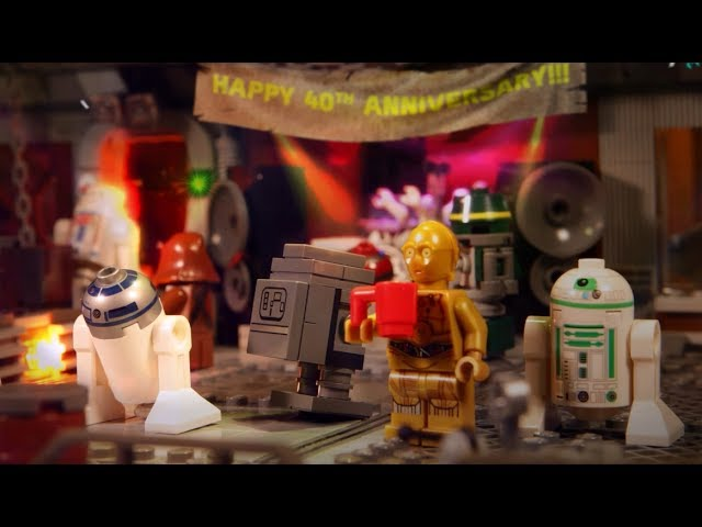 Lego Star Wars 40th Anniversary Droid Days surprise party EMBARGO 10:00 AM EST