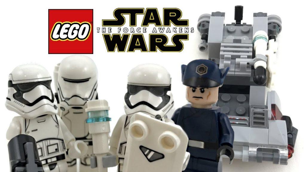 LEGO Star Wars First Order Transport Speeder Battle Pack review! 2017 set 75166!