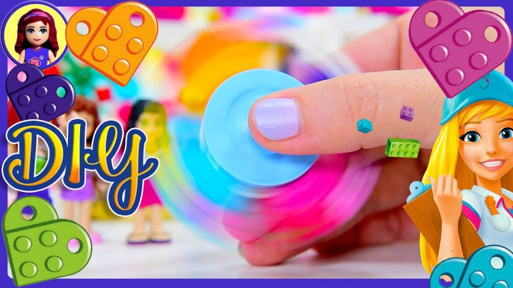 DIY Lego Friends Fidget Spinner Friendship Hearts Make Build Silly Play Kids Toys