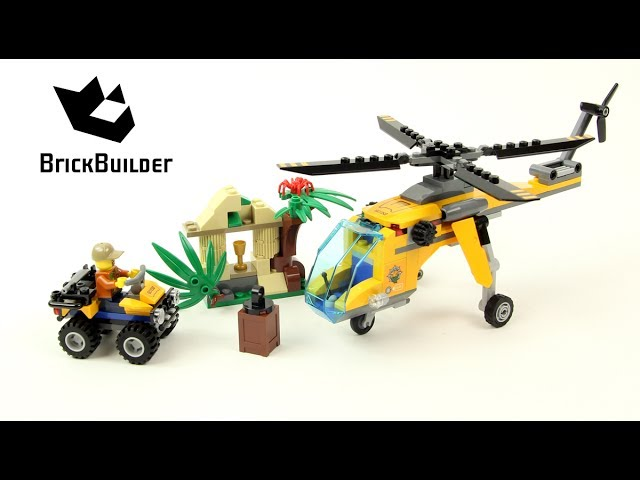 Lego City 60158 Jungle Cargo Helicopter – Lego Speed Build